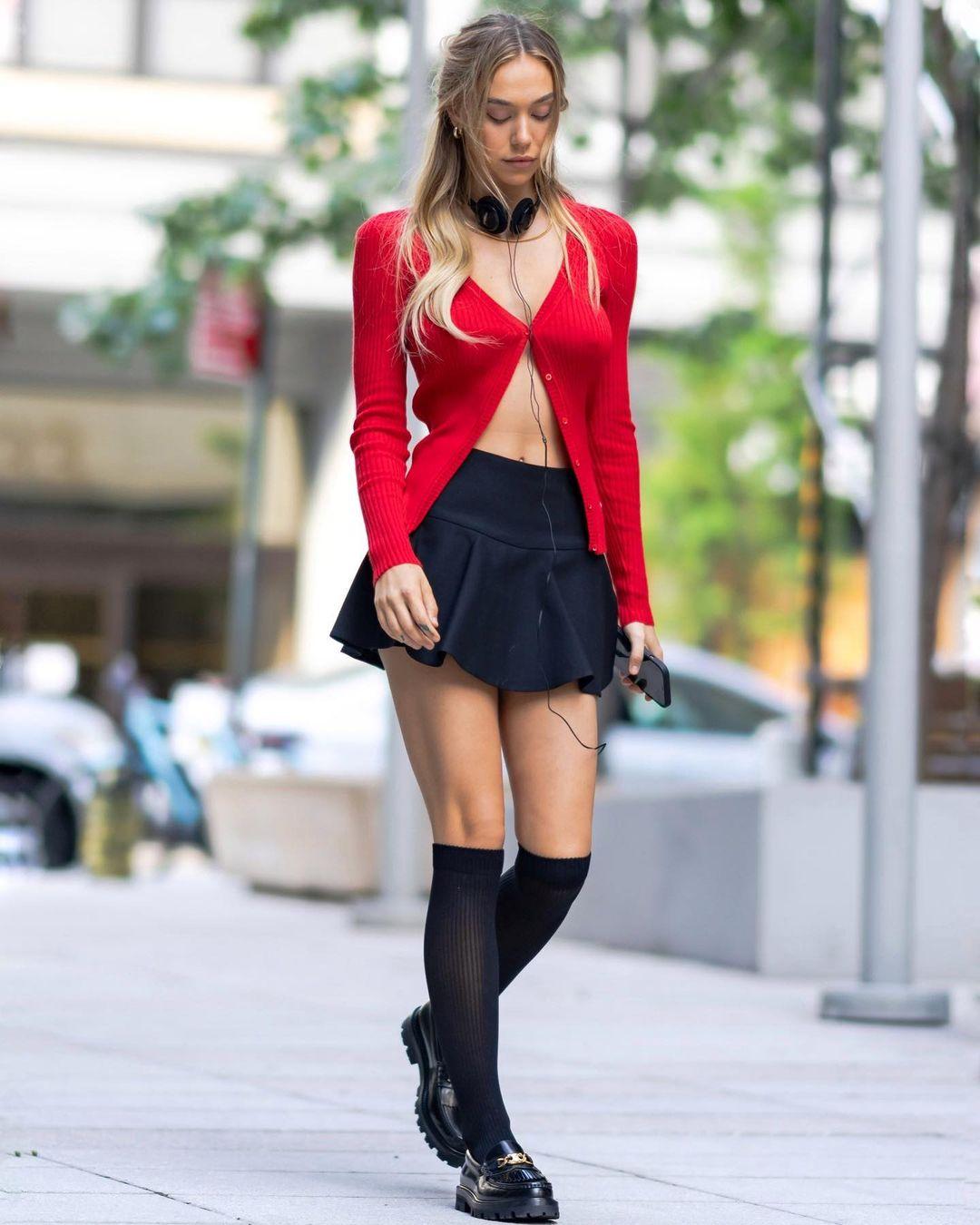Alexis Ren in Red